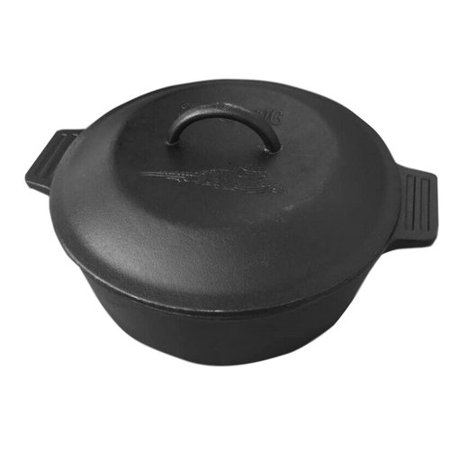 Bayou Classic 4 Qt. Covered Cast Iron Round Casserole with (Bayou Classic Iron)