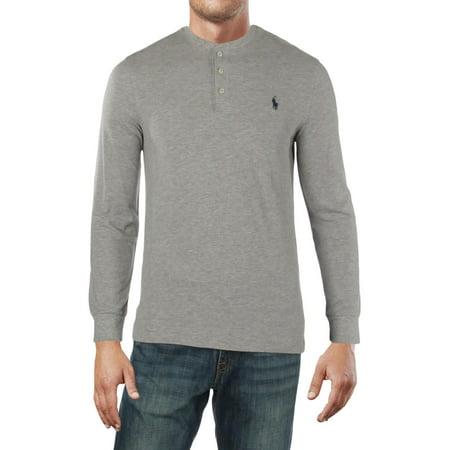 Polo Ralph Lauren Mens Heathered Logo Henley Shirt