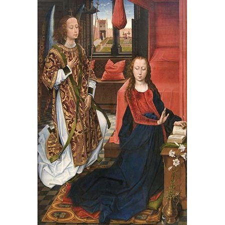One of the largest surviving Netherlands depictions of the Annunciation this imposing painting may have been the left wing of an altarpiece commissioned by the Cluny family whose coat of - Decorate An Office