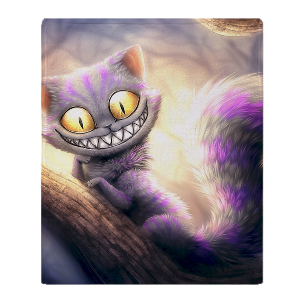 "CafePress Cheshire Cat Soft Fleece Throw Blanket, 50""x60"" Stadium Blanket by"