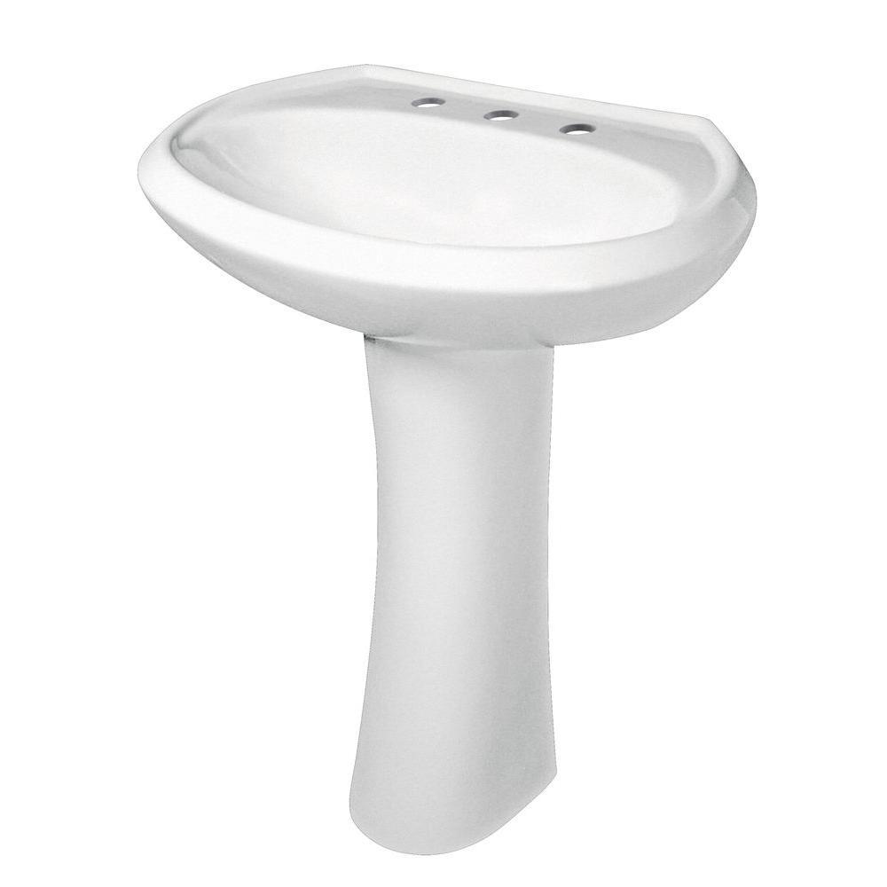 Gerber G0022518 Maxwell Pedestal Combo Bathroom Sink In White