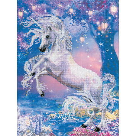 "Unicorn Counted Cross Stitch Kit, 11.75"" x 15.75"", 14 Count"