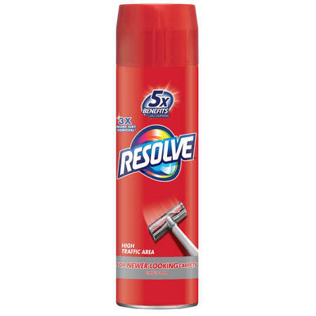 Resolve High Traffic Carpet Foam, 22oz Can, Cleans Freshens Softens & Removes Stains Odor Removing Carpet Cleaner