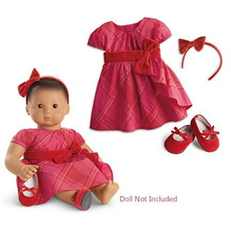 american girl bitty baby tartan taffeta dress for 15-inch dolls Bitty Baby Dress