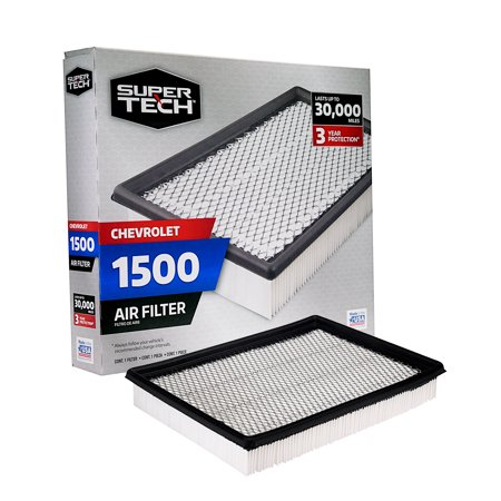 Air Lift Chevrolet Air (SuperTech 1500 Engine Air Filter, Replacement Filter for GM or Chevrolet)