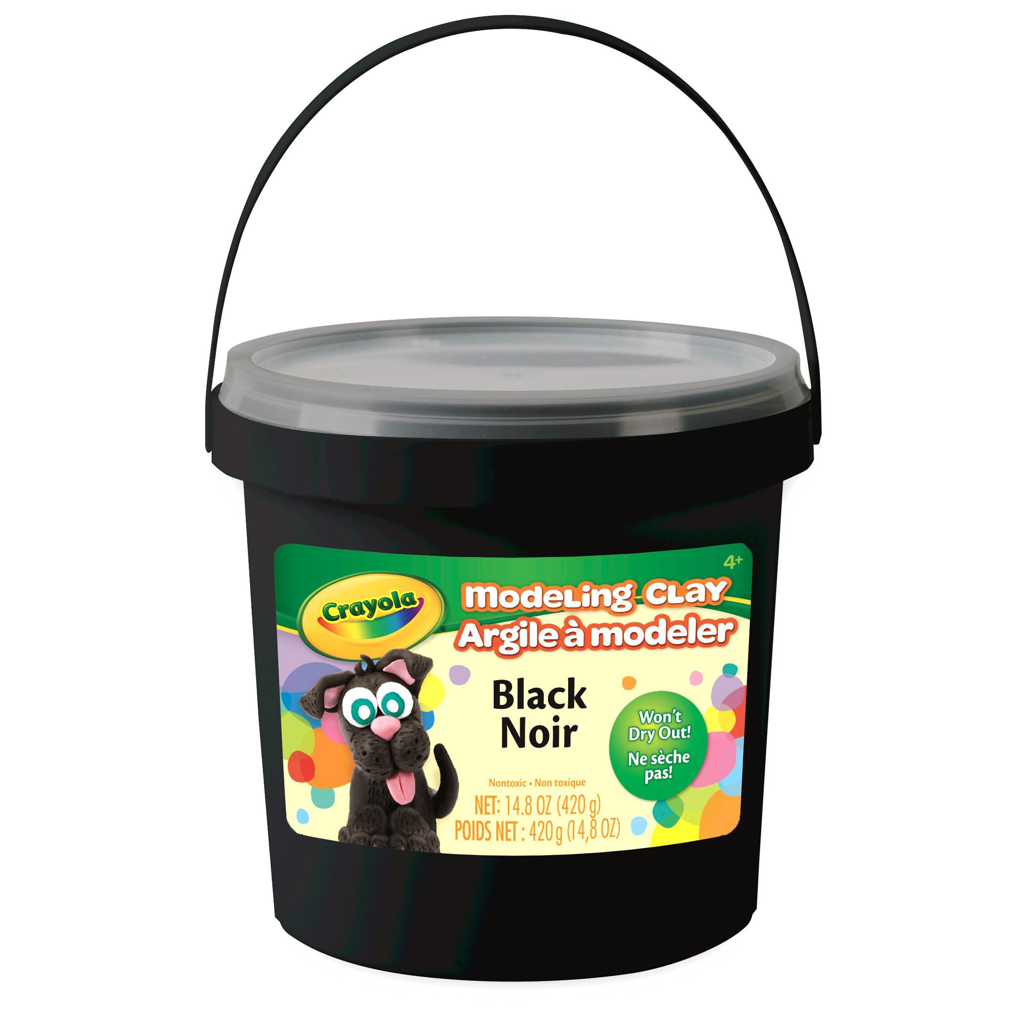 Crayola Modeling Clay 1 Lb Bucket, Black, Set Of 4 Buckets