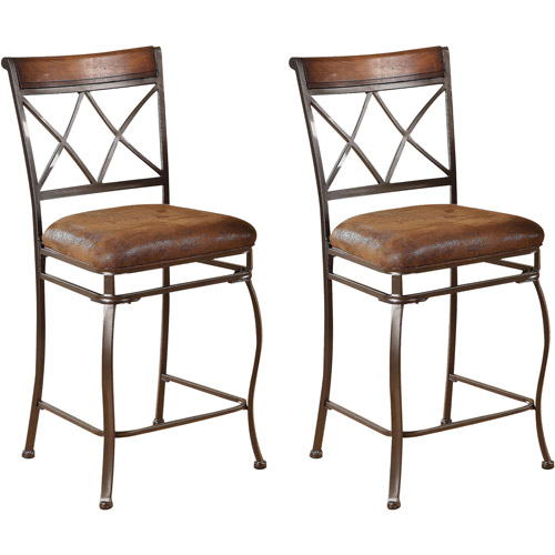 Acme Ceara Counter Chair, Set of 2, Saddle