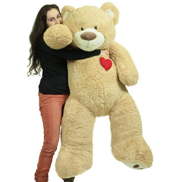 Baby Net For Stuffed Animals, Giant 5 Foot Teddy Bear 60 Inch Soft Plush Animal Heart On Chest To Express Love Walmart Com Walmart Com