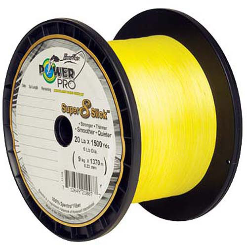 Shimano American Power Pro Yellow Super Slick Fishing Line, 300 yd