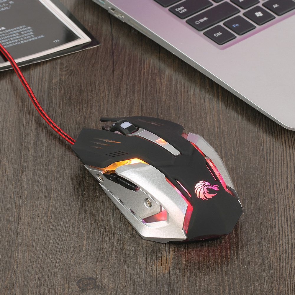 DZT1968 2.4G Adjustable 7 Buttons Optical USB Wired Gaming Game Mouse for PC Laptop
