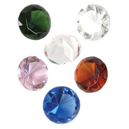 Lot of 12 Assorted Color Imitation Crystal Gem Diamond Jewelry Pirate Treasure