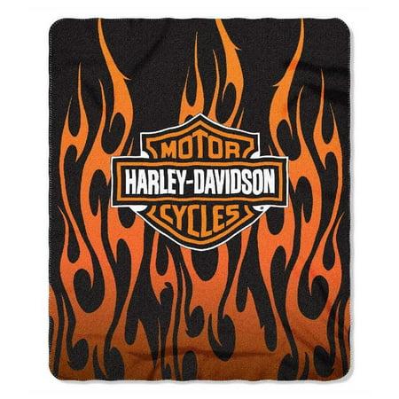 Harley Davidson Fleece Blanket, 50x60 Fleece Throw By (Harley Davidson Throw Blankets)