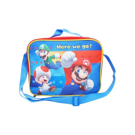 2caa71476e82 Super Mario Bros Lunch Bag Boys with Shoulder Strap - Insulated ...