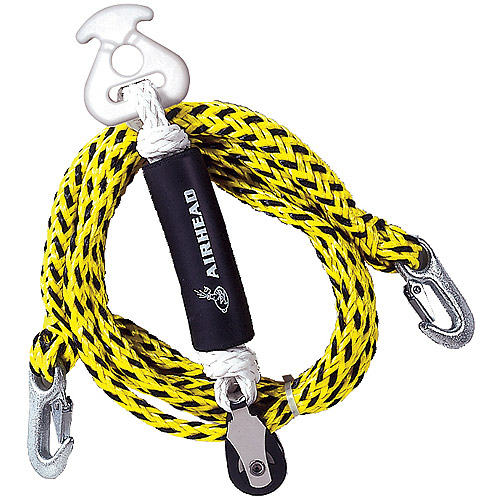 Airhead Tow Harness Self-Centering Pulley, 12', Black and Yellow by Airhead