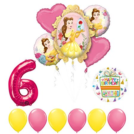 Beauty and The Beast 6th Birthday Party Balloon supplies decorations - Beauty And The Beast Party