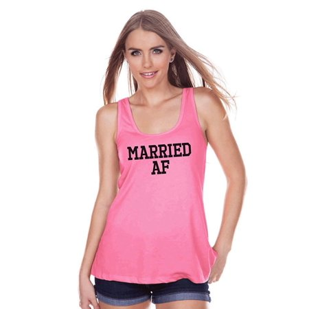 7 ate 9 Apparel Women's Married AF Bride Tank Top - Medium (Bridge Clothing)
