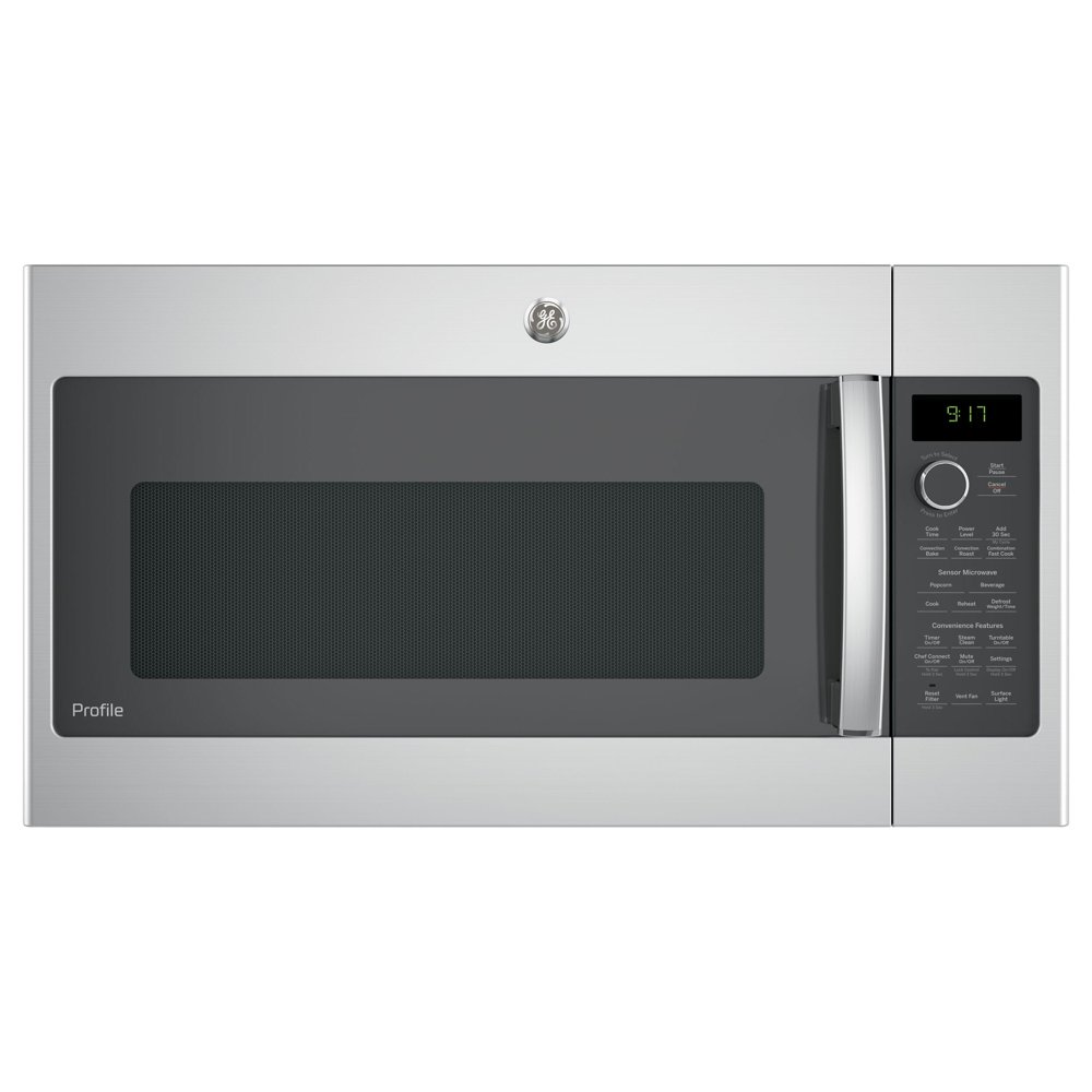 GE Profile Series 1.7-cubic Feet Convection Over-the-ran Microwave Oven - Stainless Steel