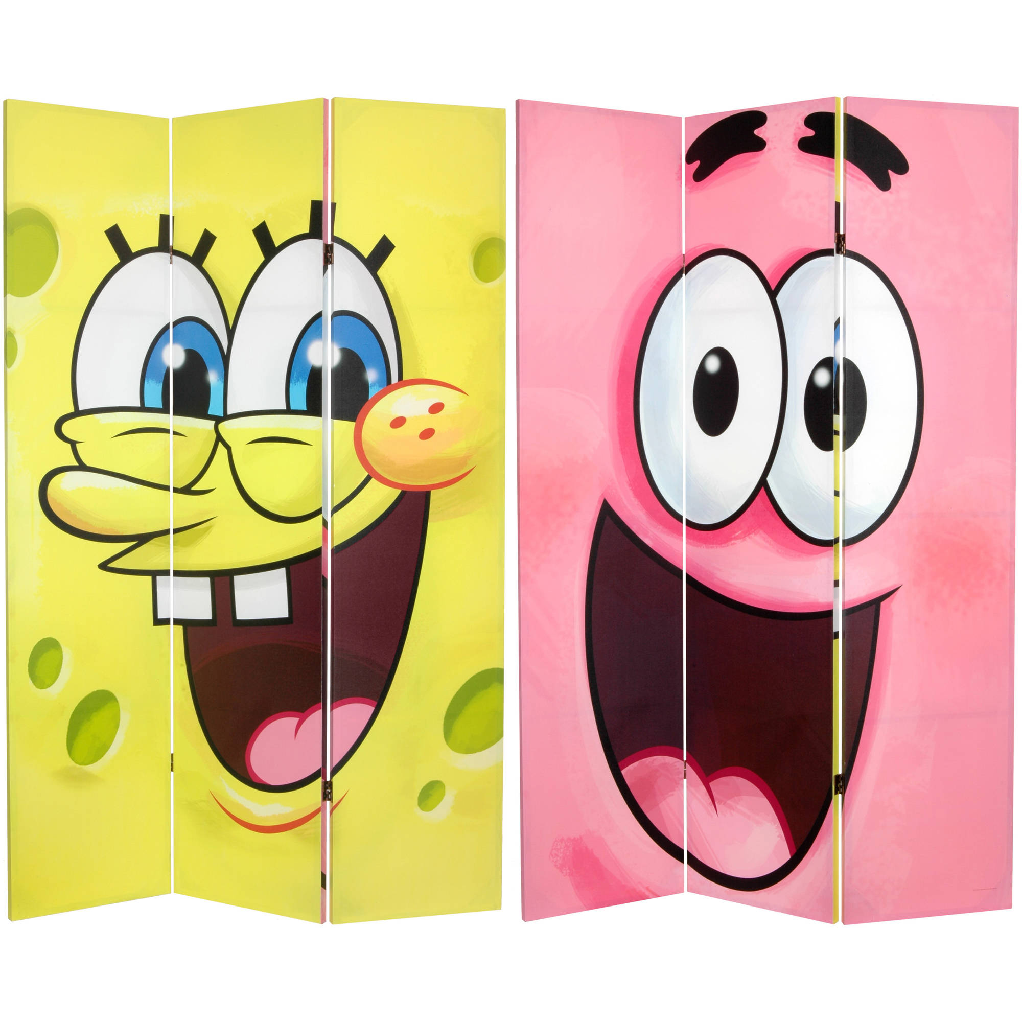 6' Tall Double Sided SpongeBob Canvas Room Divider