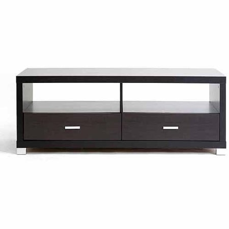 Wholesale Interiors Derwent Dark Brown Modern TV Stand with Drawers for TVs up to 47″