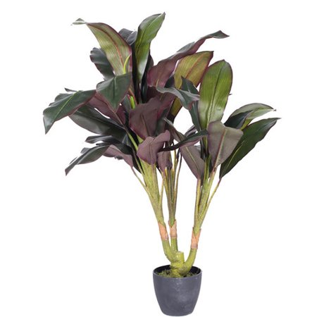Bay Isle Home Real Touch Floor Dracaena Plant In Pot