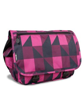 J World Terry Messenger Bag, Block Pink