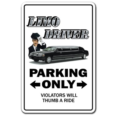 LIMO DRIVER Decal limousine chauffeur stretch car pool soccer mom | Indoor/Outdoor | 7
