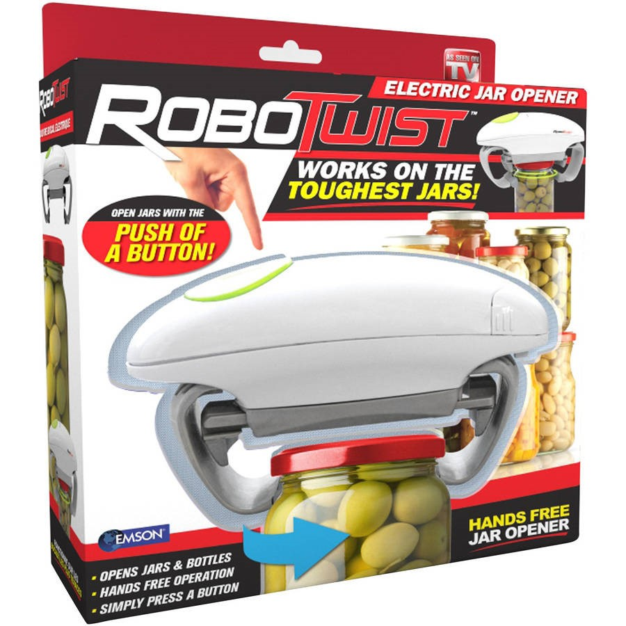 As Seen on TV Robo Twist Jar Opener - The One Touch Handsfree Jar Opener