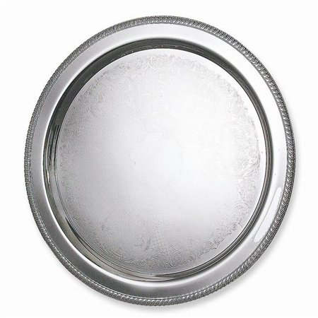 10 in. Round Gadroon Tray - Tray Gadroon Border