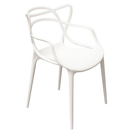 Tremendous Newton 4 Pack Indoor Outdoor Accent Chairs In White Polypropylene Pp By Diamond Sofa Gmtry Best Dining Table And Chair Ideas Images Gmtryco