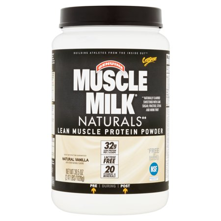 Muscle Milk Naturals Natural Vanilla Lean Muscle Protein Powder  39 5 Oz