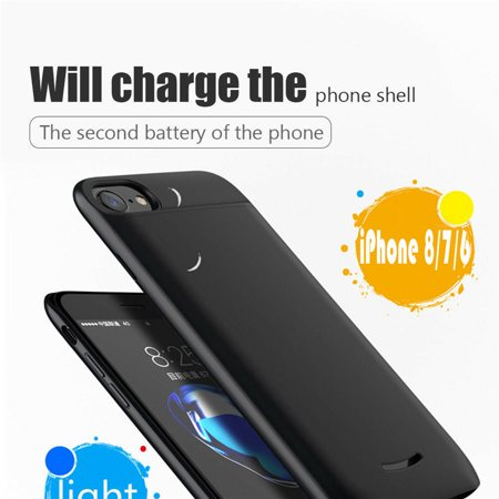 5000mAh Power Bank External Battery Case Charger Cover For iPhone 8 7 6 6S