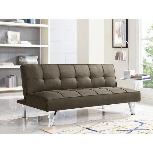 Cambridge Convertible Sofa Brown - Serta