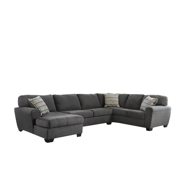 Ashley Sorenton 3 Piece Fabric Right Facing Sectional in Slate by Ashley Furniture