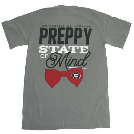(University Of Georgia Bulldogs Preppy State Of Mind T-Shirt)