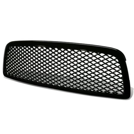 For 2009 to 2012 Dodge Ram ABS Plastic Sport Mesh Front Bumper Grille (Black) - 4th Gen DS DJ 10 11