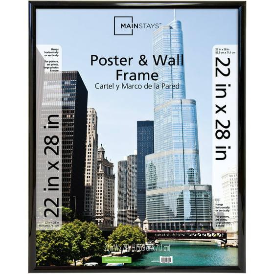 Mainstays 22x28 Trendsetter Poster Picture Frame Black Walmartcom