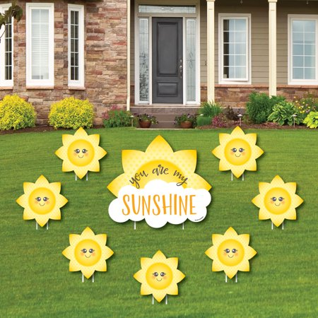 You are My Sunshine - Yard Sign & Outdoor Lawn Decorations - Baby Shower or Birthday Party Yard Signs - Set of 8 (You Are My Sunshine Baby Shower Decorations)