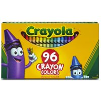 Crayola Crayons Box with Built-In Sharpener, 96 Count