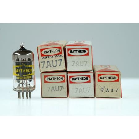 5 Vintage Raytheon 7AU7 / XCC82 Noval Twin Triode Radio Preamp Valve - BangyBang Tubes