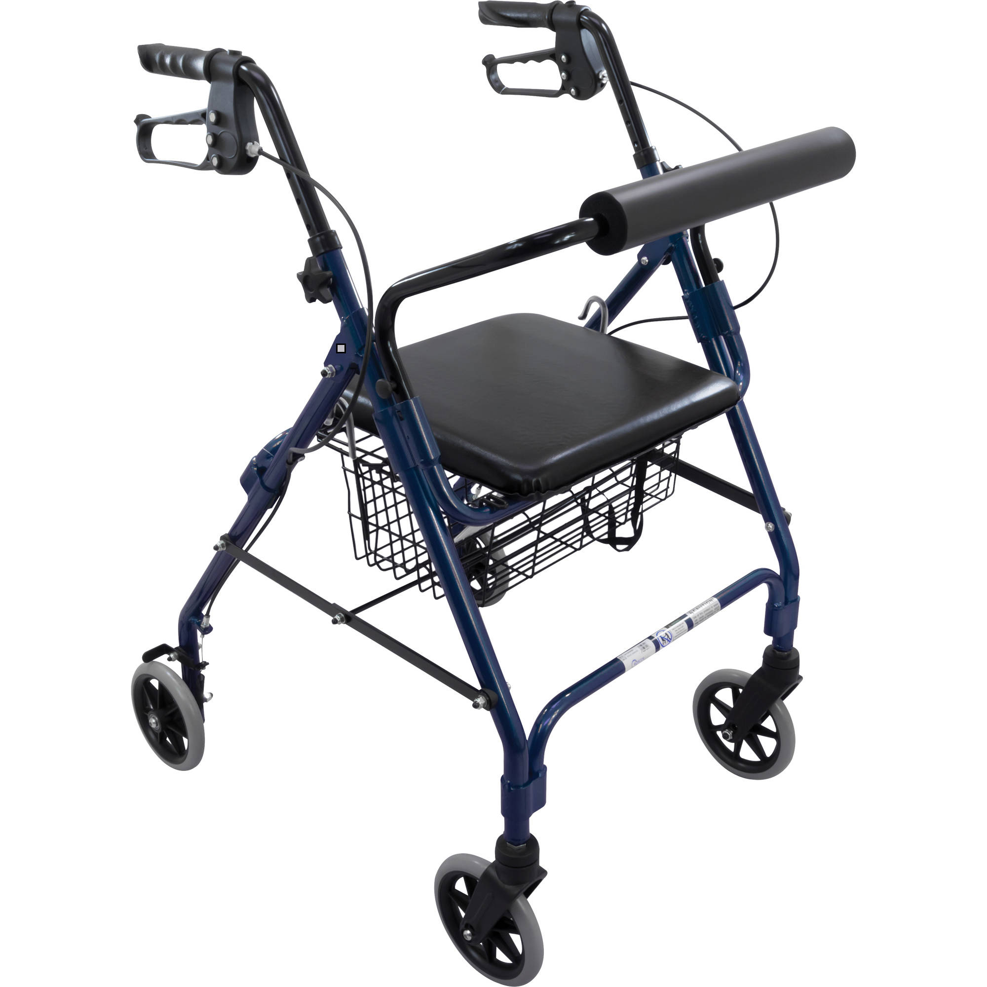 Roscoe Rollator with Padded Seat Blue 6'' Wheels, 1 Count