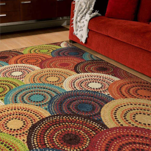 Better Homes and Gardens Bright Dotted Circles Area Rug or Runner by Orian Rugs Inc
