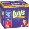 Luvs Ultra Leakguards Diapers, Size 1, 210 Diapers