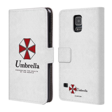 OFFICIAL RESIDENT EVIL LOGO LEATHER BOOK WALLET CASE COVER FOR SAMSUNG PHONES 1
