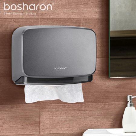 Bosharon Paper Towel Dispenser Wall Mounted Holder Bathroom Toilet Tissue Home Kitchen