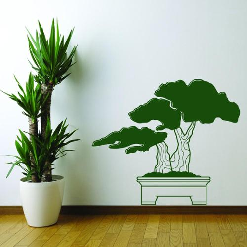 Style and Apply Bonsai Vinyl Mural Wall Decal