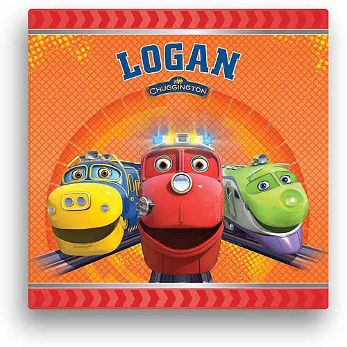 "Personalized Chuggington Trainees 16"" x 16"" Canvas Wall Art"