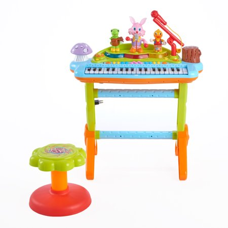 Ez Play Piano - Huile Kids Play Musical Electronic Keyboard Piano Microphone Toy