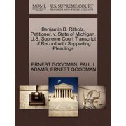 Benjamin D. Ritholz, Petitioner, V. State of Michigan. U.S. Supreme Court Transcript of Record with Supporting Pleadings