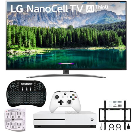 "LG 75SM8670PUA 75"" 4K HDR Smart LED IPS TV w/ AI ThinQ 2019 Model Includes Microsoft Xbox One S 1TB & Ultimate Wall Mount Accessory Bundle (SM8670PUA 75SM8670P 75SM8670)"