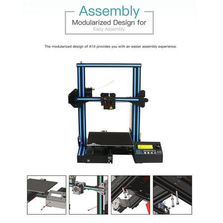 GEEETECH A10 3D Printer, Fast-Assembled Aluminum Profile DIY
